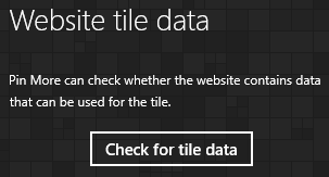 Check for tile data button